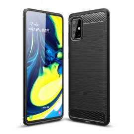 Armor Brushed TPU Samsung Galaxy A71 Hoesje - Zwart