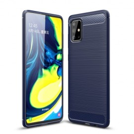 Armor Brushed TPU Samsung Galaxy A71 Hoesje - Blauw