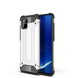 Armor Hybrid Samsung Galaxy Note 10 Lite Hoesje - Zilver