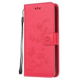 Bloemen Book Case Samsung Galaxy A71 Hoesje - Roze