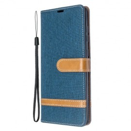 Denim Book Case Samsung Galaxy A71 Hoesje - Blauw