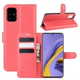 Book Case Samsung Galaxy A51 Hoesje - Rood