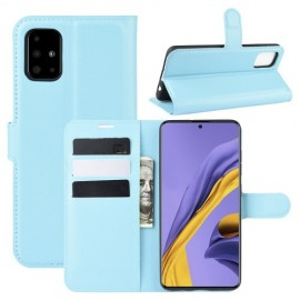 Book Case Samsung Galaxy A51 Hoesje - Lichtblauw