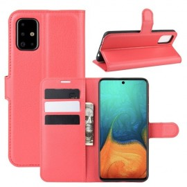 Book Case Samsung Galaxy A71 Hoesje - Rood