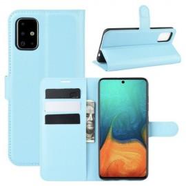 Book Case Samsung Galaxy A71 Hoesje - Lichtblauw