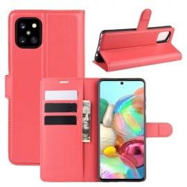 Book Case Samsung Galaxy Note 10 Lite Hoesje - Rood