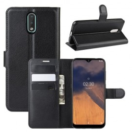 Book Case Nokia 2.3 Hoesje - Zwart