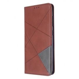 Geometric Book Case Samsung Galaxy A51 Hoesje - Donkerbruin