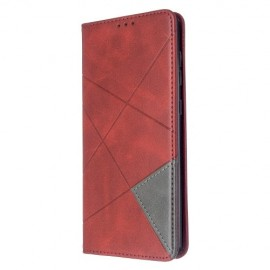 Geometric Book Case Samsung Galaxy A71 Hoesje - Rood