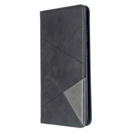 Geometric Book Case Samsung Galaxy A71 Hoesje - Zwart