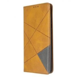 Geometric Book Case Samsung Galaxy A71 Hoesje - Bruin