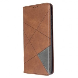 Geometric Book Case Samsung Galaxy A71 Hoesje - Donkerbruin