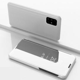Mirror View Case Samsung Galaxy A51 Hoesje - Zilver