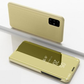Mirror View Case Samsung Galaxy A71 Hoesje - Goud
