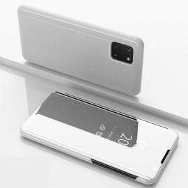 Mirror View Case Samsung Galaxy Note 10 Lite Hoesje - Zilver