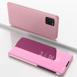 Mirror View Case Samsung Galaxy Note 10 Lite Hoesje - Rose Gold