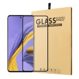 Tempered Glass Samsung Galaxy A51 - Zwart