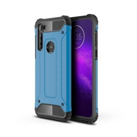 Armor Hybrid Motorola Moto G8 Power Hoesje - Lichtblauw