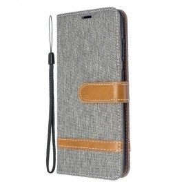 Denim Book Case Samsung Galaxy S20 Hoesje - Grijs