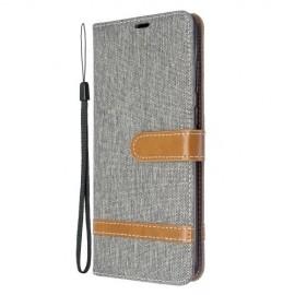 Denim Book Case Samsung Galaxy S20 Plus Hoesje - Grijs