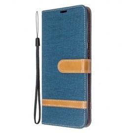 Denim Book Case Samsung Galaxy S20 Plus Hoesje - Donkerblauw