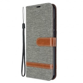 Denim Book Case Xiaomi Redmi Note 8T Hoesje - Grijs
