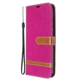 Denim Book Case Xiaomi Redmi Note 8T Hoesje - Roze