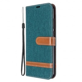 Denim Book Case Xiaomi Redmi Note 8T Hoesje - Groen