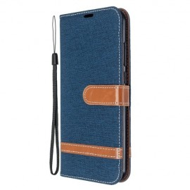 Denim Book Case Xiaomi Redmi Note 8T Hoesje - Donkerblauw