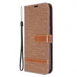 Denim Book Case Xiaomi Redmi Note 8T Hoesje - Khaki
