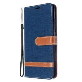Denim Book Case Xiaomi Mi Note 10 Hoesje - Donkerblauw