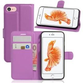 Book Case iPhone SE (2020) / 8 / 7 Hoesje - Paars