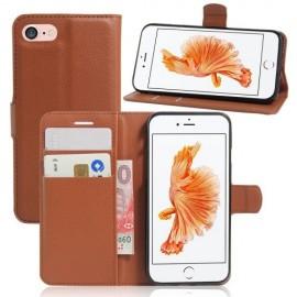 Book Case iPhone SE (2020) / 8 / 7 Hoesje - Bruin