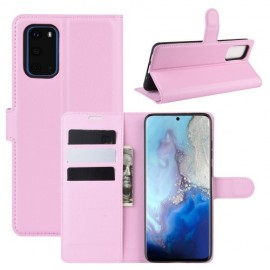Book Case Samsung Galaxy S20 Hoesje - Pink
