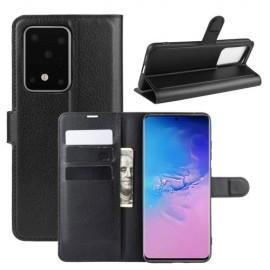 Book Case Samsung Galaxy S20 Ultra Hoesje - Zwart