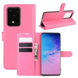 Book Case Samsung Galaxy S20 Ultra Hoesje - Roze
