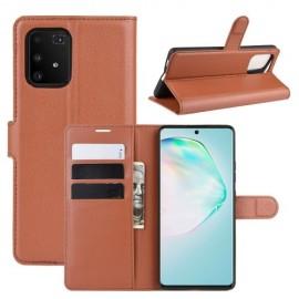 Book Case Samsung Galaxy S10 Lite Hoesje - Bruin