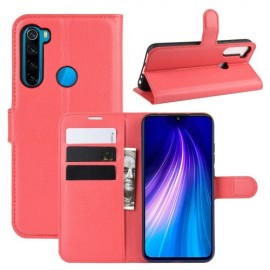 Book Case Xiaomi Redmi Note 8T Hoesje - Rood