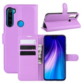 Book Case Xiaomi Redmi Note 8T Hoesje - Paars