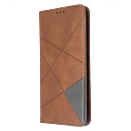 Geometric Book Case Samsung Galaxy S20 Plus Hoesje - Donkerbruin