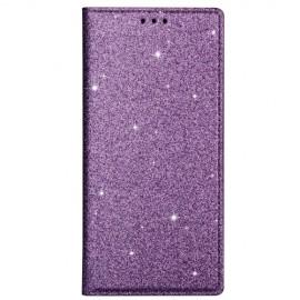Book Case Glitter Samsung Galaxy S20 Hoesje - Paars