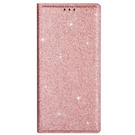 Book Case Glitter Samsung Galaxy S20 Hoesje - Rose Gold
