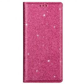 Book Case Glitter Samsung Galaxy S20 Hoesje - Roze