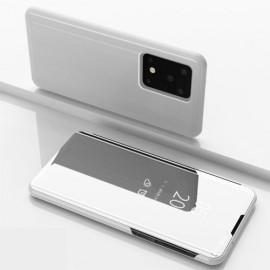 Mirror View Case Samsung Galaxy S20 Ultra Hoesje - Zilver