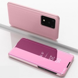 Mirror View Case Samsung Galaxy S20 Ultra Hoesje - Rose Gold