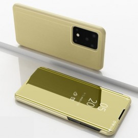 Mirror View Case Samsung Galaxy S20 Ultra Hoesje - Goud