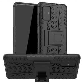 Rugged Kickstand Samsung Galaxy A71 Hoesje - Zwart