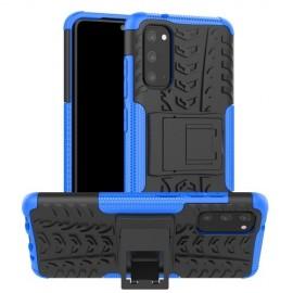 Rugged Kickstand Samsung Galaxy S20 Hoesje - Blauw
