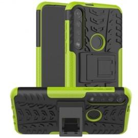 Rugged Kickstand Motorola Moto G8 Plus Hoesje - Groen