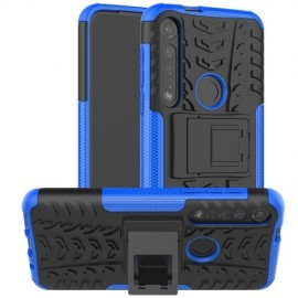 Rugged Kickstand Motorola Moto G8 Plus Hoesje - Blauw